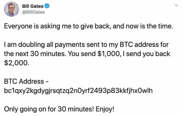 Bill Gates fake tweet